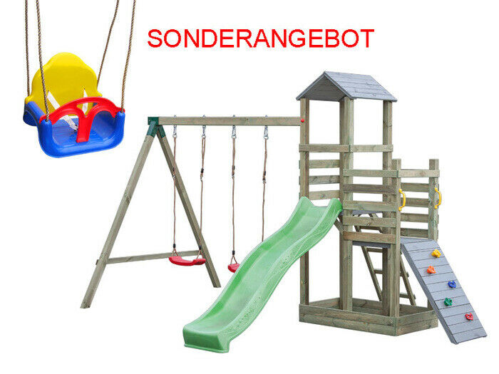 Kinderspielplatz Emi II - Grau Herbst Sonderangebot!  TUV