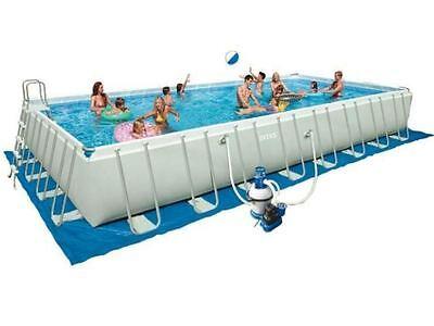 Intex swimming pool xtr frame pool mit sandfilter - Pool mit stahlrahmen ...