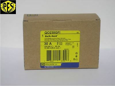 New In Box Nib Square D Qo230gfi Qo 2 Pole 30 Amp Gfci Circuit Breaker