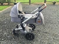 Joolz day pram plus bag and toddler board it's one year old good condition. 900 it all cost .