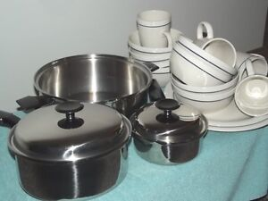 Stainless Steel and Stone Ware
