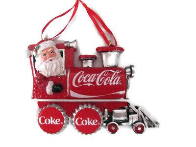 Coca-Cola Kurt S Adler Santa in Train Holiday Christmas Ornament - BRAND -