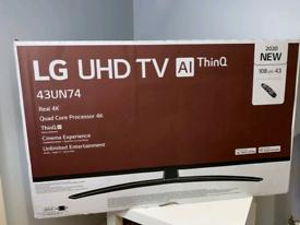 LG 43 INCH UHD 4K SMART NEW BOXED TV CALL