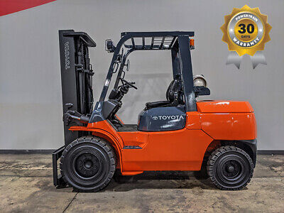 2012 Toyota 7fgu45 10000lb Pneumatic Forklift Lpg Lift Truck Hi Lo 90132