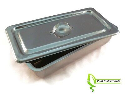 Medium Instrument Tray Lid Stainless Tattoopiercing Surgical Medical 8x4x2