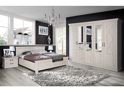 Schlafzimmer Kashmir mit Drehtürenschrank Schlafen Doppelbett Nachtschrank110048