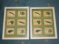 2 X PIMPERNEL LEAF PADDED LAP TRAYS
