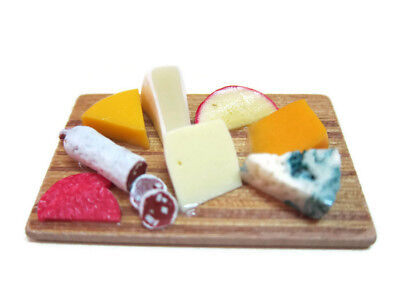 Cheese Preparation Wooden Board Kitchen Cooking Dollhouse Miniatures Food -3