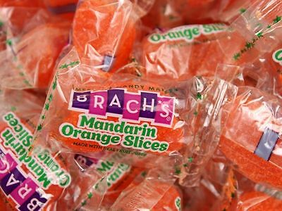 Brach's Mandarin Orange Slices 4 POUNDS Bulk Wrapped Jelly Candy FREE SHIPPING - Mandarin Orange Candy
