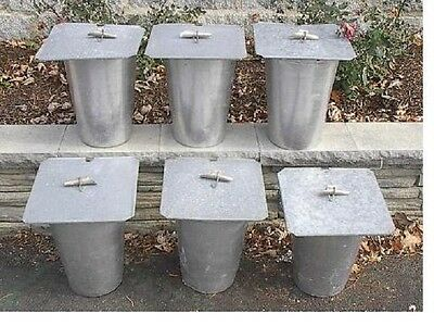 12 MAPLE SYRUP Aluminium Sap BUCKETS + 12 Lids Covers + 12 Taps Spouts Spiles