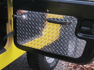 Older Style CJ7 CJ8 Scrambler Jeep Diamond Plate Interior Door Panels FREE SHIP