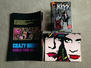 KISS tour programs and Gene Simmons collectable figure