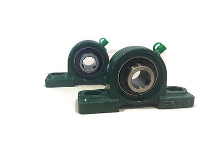 2 Ea 34 Bore Self-aligning Pillow Block Bearing Cast Iron Ucp204-12 Solid Base