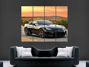 LEXUS LFA  SUPERCAR BLACK LARGE PICTURE POSTER GIANT HUGE