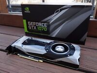 NVIDIA GeForce GTX 1070 Founders Edition - 3 MONTHS OLD, 33 MONTHS WARRANTY LEFT, ALL ORIG PACKAGING
