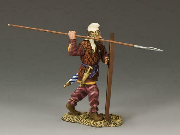 King & Country AG023 Persian Spearman Throwing   - RETIRED - Mint in the Box