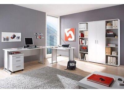 Büro Komplettset Office Line Weiß Büromöbel Schreibtisch Schrank Regal 109508