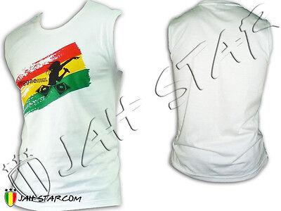 Débardeur  Rasta Rastafarie DJ Sound System Jamaica Jah Star Wear Dj-sound-system