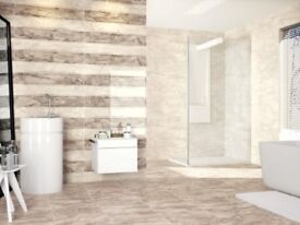 Clearance Bathroom Tiles for £14 per square metre