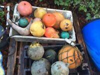 Various Metal & Plastic Sea Buoys Garden Ornaments - Lots available