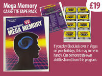 'Mega Memory' Cassette Pack x10 (Brain Tools) vintage collectable. Improve your memory.