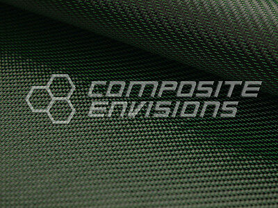 Green Mirage Carbon Fiber Cloth Fabric 2x2 Twill 50 3k 290gsm 8.6oz Hd