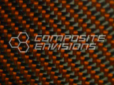 Carbon Fiber Panel Made With Kevlar Orange .022.56mm 2x2 Twill-epoxy-12x24