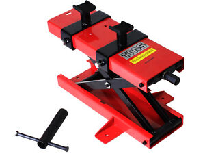 1100 LB Motorcycle Dirt Bike ATV Scissor Center Jack Mini Lift Crank Floor Stand