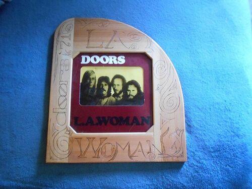 THE DOORS  L.A. WOMAN  MOUNTED IN A WOOD CUSTOM HANDMADE FRAME