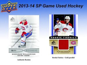 2013-14 Upper Deck SP Game Used Hockey Hobby Box Kitchener / Waterloo Kitchener Area image 5