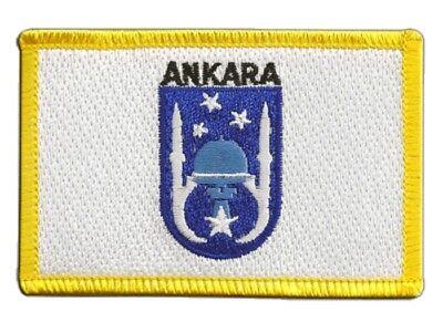 Ankara Türkei (Türkei Ankara Aufnäher Flaggen Fahnen Patch Aufbügler 8x6cm)