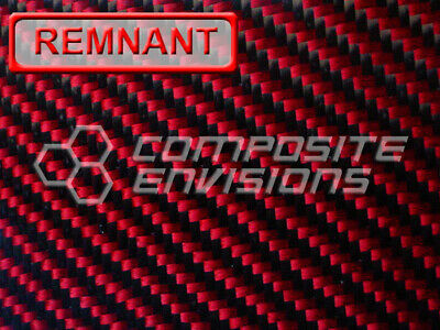 Carbon Fiber Made With Kevlar Red Panel .093 2x2 Twill 12x24 Discount Remnant