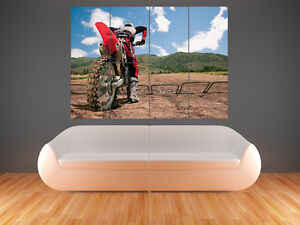 MOTOCROSS  LARGE  GIANT WALL  POSTER