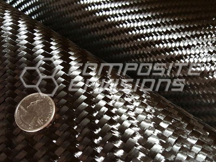 """Carbon Fiber Fabric 2x2 Twill 12k 400gsm/11.8oz 45"""" Spread Tow Toray T-700"""