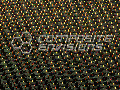 Copper Reflections Carbon Fiber Fabric 2x2 Twill 50 3k 5.9oz