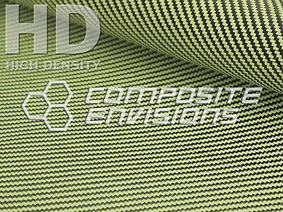 Carbon Fiber Made With Kevlar Yellow Fabric 2x2 Twill 50 3k 6.6oz 222gsm Hd