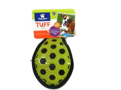 Top Paw Tuff Toy Spiked Ball Green Blue Ultra Durable Teethi