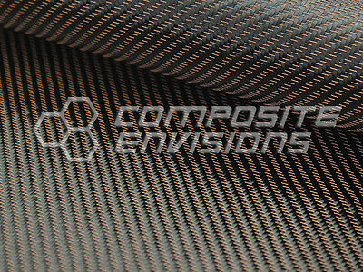 Copper Mirage Carbon Fiber Cloth Fabric 2x2 Twill 50 3k 290gsm 8.6oz Hd