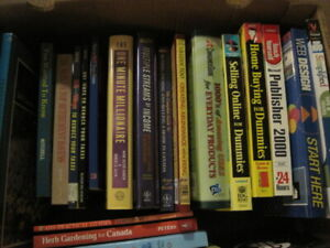 Books - new & used (health, gardening, cooking)