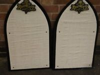 ALCHEMY GOTHIC OFFICIAL DISPLAY BOARDS IN BLACK WITH WHITE FRONT.