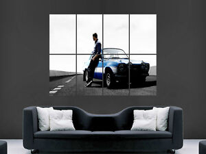 FAST AND FURIOUS POSTER PAUL WALKER  CAR ART  IMAGE  LARGE WALL  PICTURE