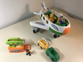 Holiday Flight Jet Plane Playset- new in a box