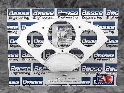 Chevy Bel Air Billet - 55-56 Chevy Bel-Air Billet Aluminum Gauge Panel Dash Insert Instrument Cluster