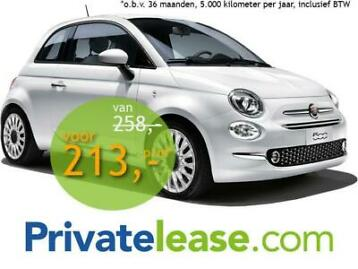 Private lease Fiat 500 AUTOMAAT Occasion met PDC!