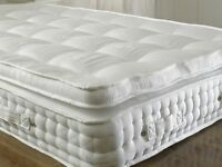 BZAMS LUXURY Brand New Sealed Luxury 2000 Pocket Sprung Pillow Top 12 Inch Thisck Mattress