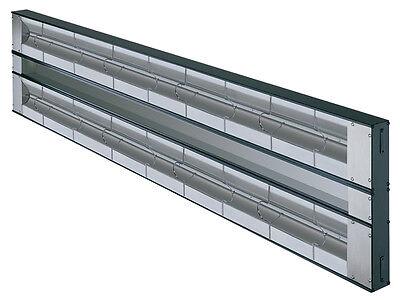Hatco Grah-48d3-120-qs 48 Aluminum Dual Strip Heater 2200 Watts W 3 Spacer