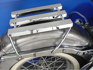 1958-1984 Harley Davidson Panhead Shovelhead 3 Channel Luggage Rack Chrome
