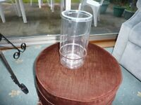 WINE BOTTLE COOLER CLEAR ACRYLIC, SOMETIMES CALLED A ICE BUCKET AS NEW UNUSED