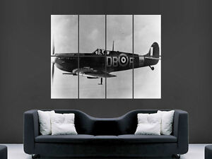 SPITFIRE-AEROPLANE-CLASSIC-WORLD-WAR-2-II-LARGE-PICTURE-POSTER-GIANT-HUGE