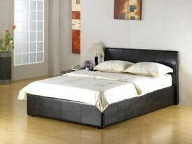 ⭐BIG BUYS FAUX LEATHER SINGLE/DOUBLE/KINGSIZE OTTOMAN STORAGE BED FRAME WITH MATTRESS OF CHOICE
